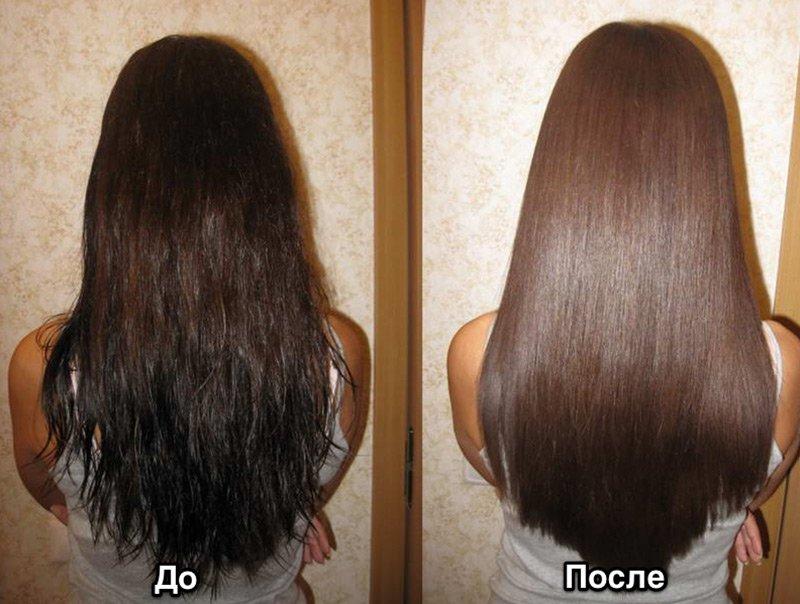 Кератин для волос процедура