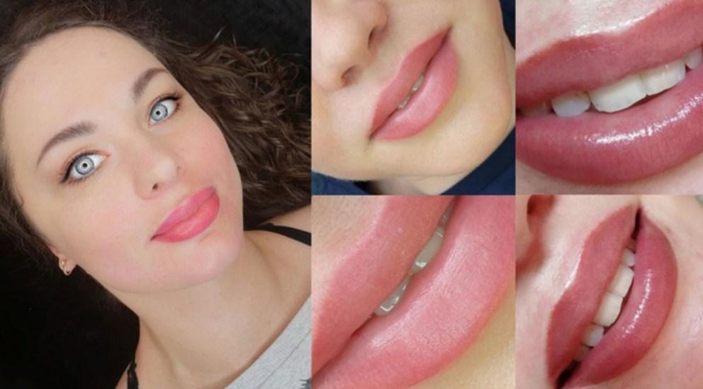 Пухлые, сочные губы – перманентный татуаж в действии