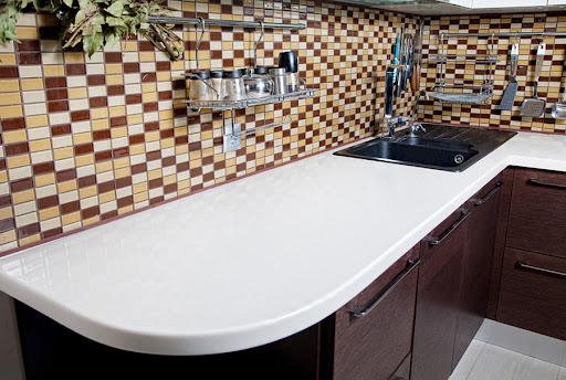 столешницы для кухни grandex из акрилового камня
